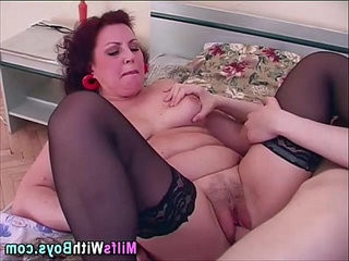 Mature In Sexy Stockings Riding Dick