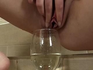 Kinky fetish fingers her moist clit