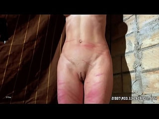 Nataly gold slave for debts whipping