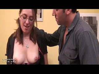 Pretty amateur french brunette ass gaped and hammered with cum on tits