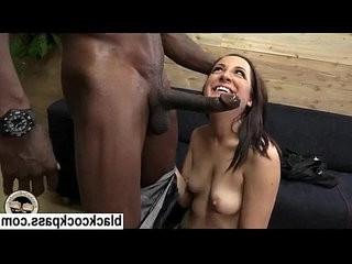 Black cock worshipping white slut