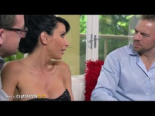 Huge juggs milf Lezley Zen wet snatch ripped on the couch