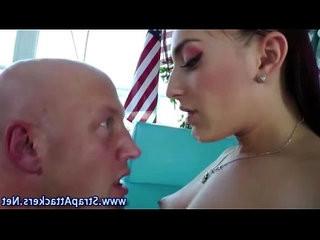 Cum licking domina loves facial