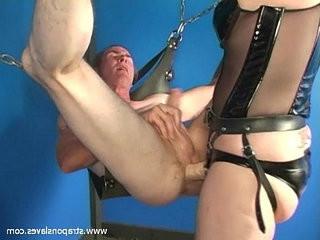 Mature strapon mistress kelly fucking her slave