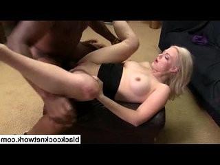 Blonde babe hard by black thug